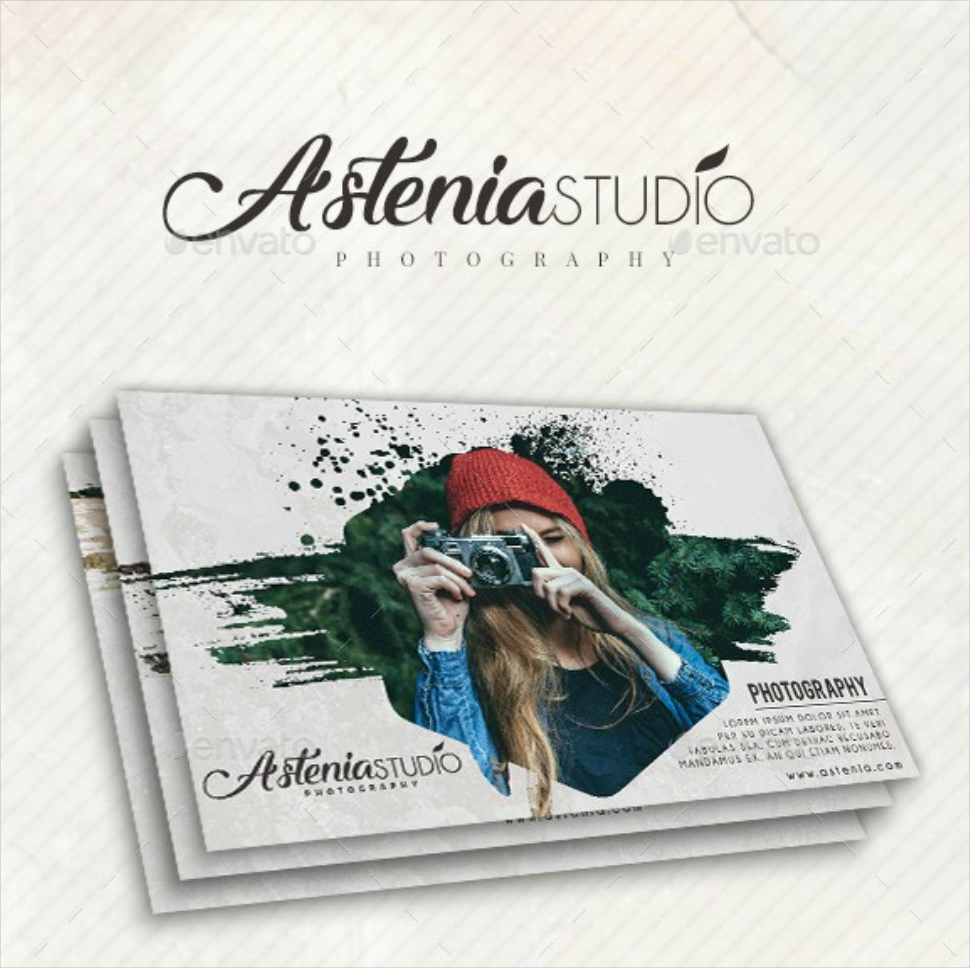 studio photography postcard