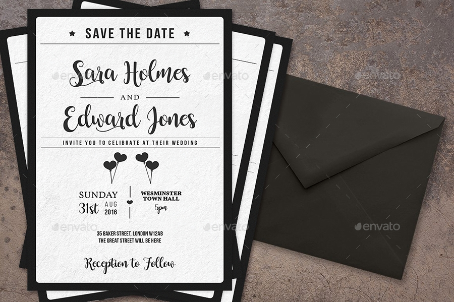 stylish royal wedding invitation