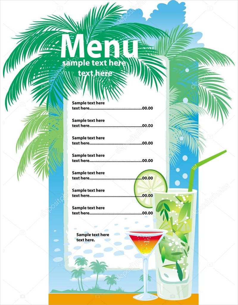 summer drink menu