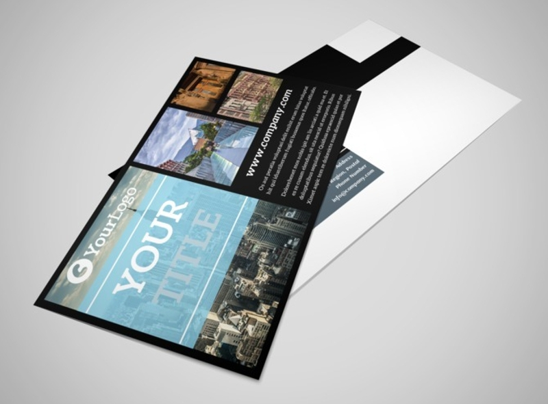 urban real estate postcard template