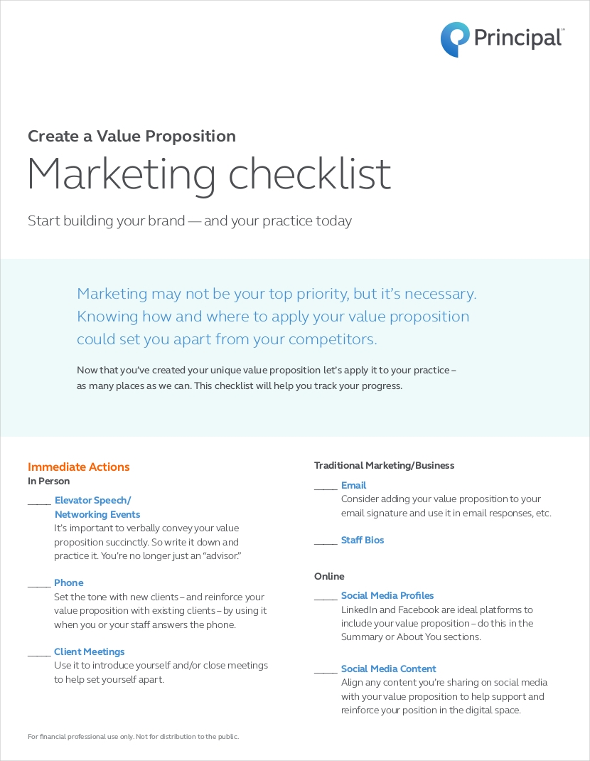 value proposition marketing checklist1