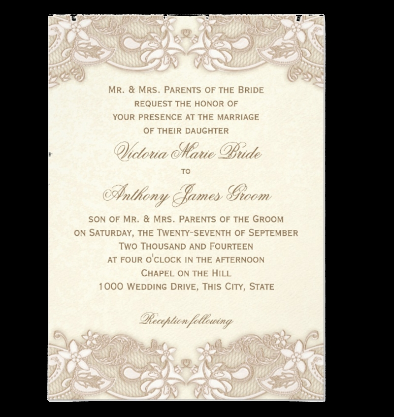 14+ Lace Wedding Invitations - Editable PSD, Vector EPS, AI, PNG ...