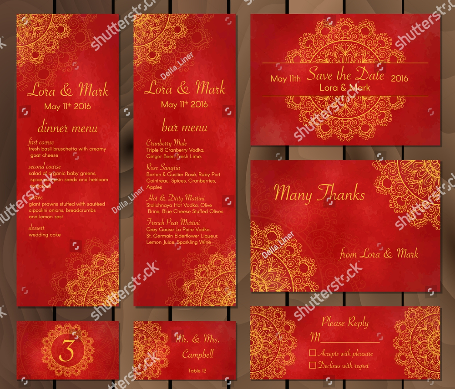 Funky Lace Wedding Invitation Ensign - Invitations and Announcements ...