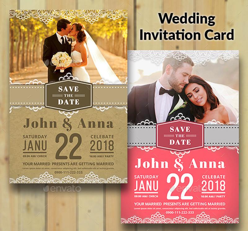 vintage photo wedding invitation design