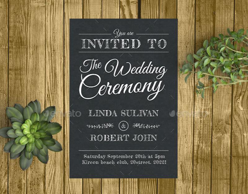 vintage snow wedding invitation