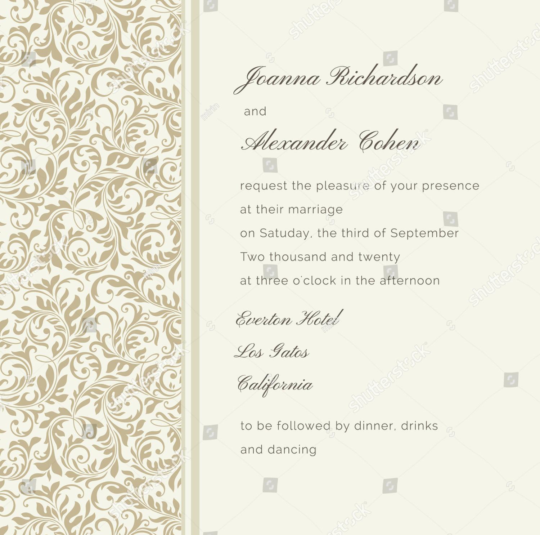 vintage wedding invitation1