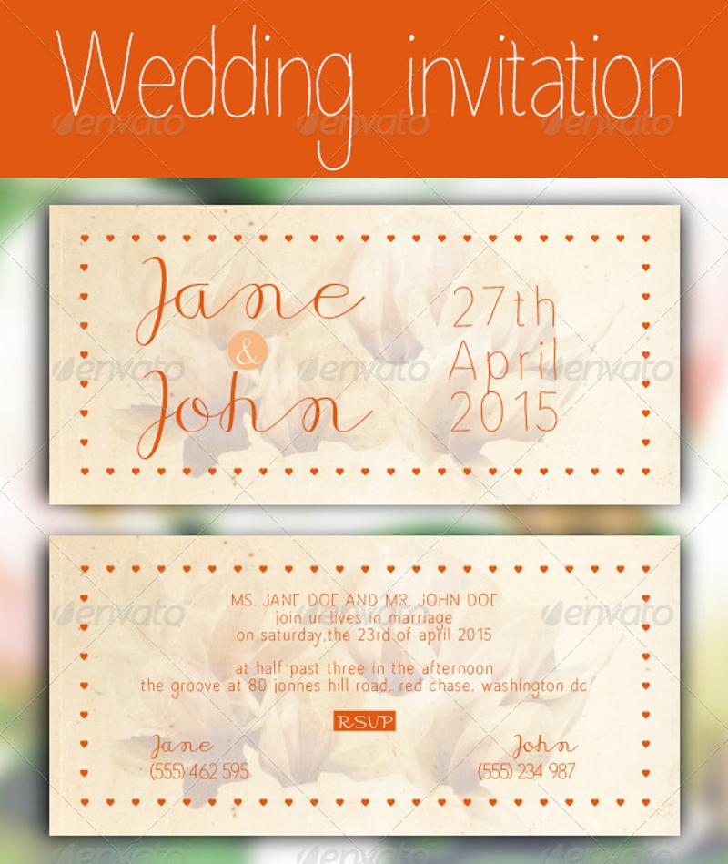 vintage wedding invitation2