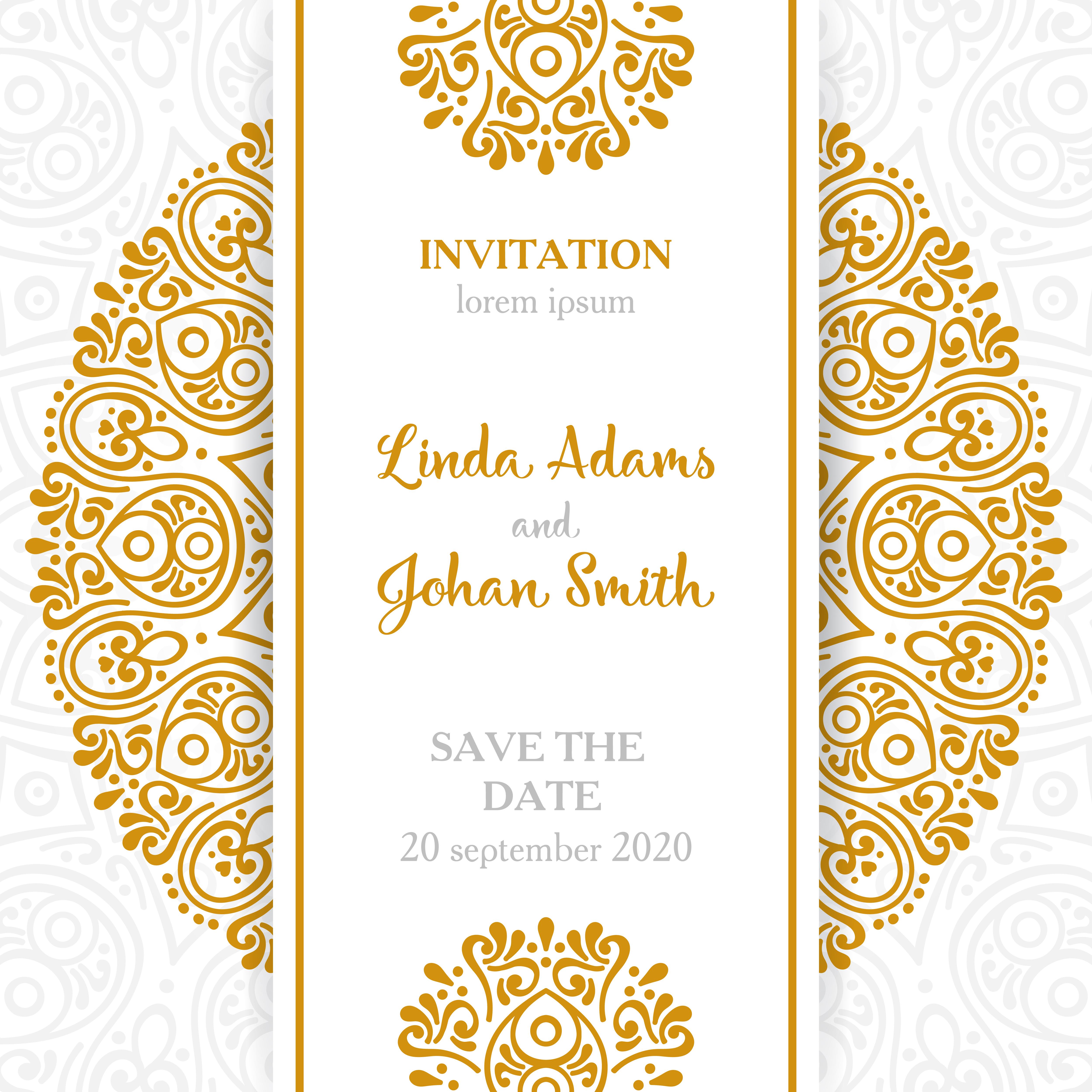 vintage wedding invitation4