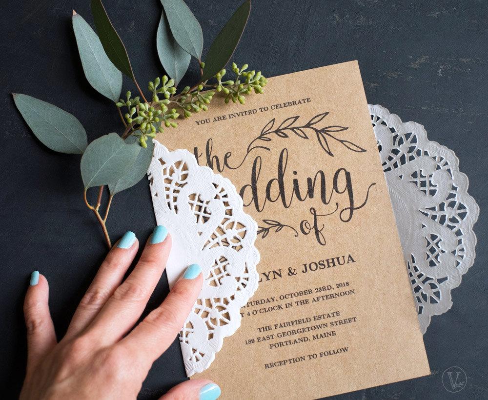 vintage wedding invitation5