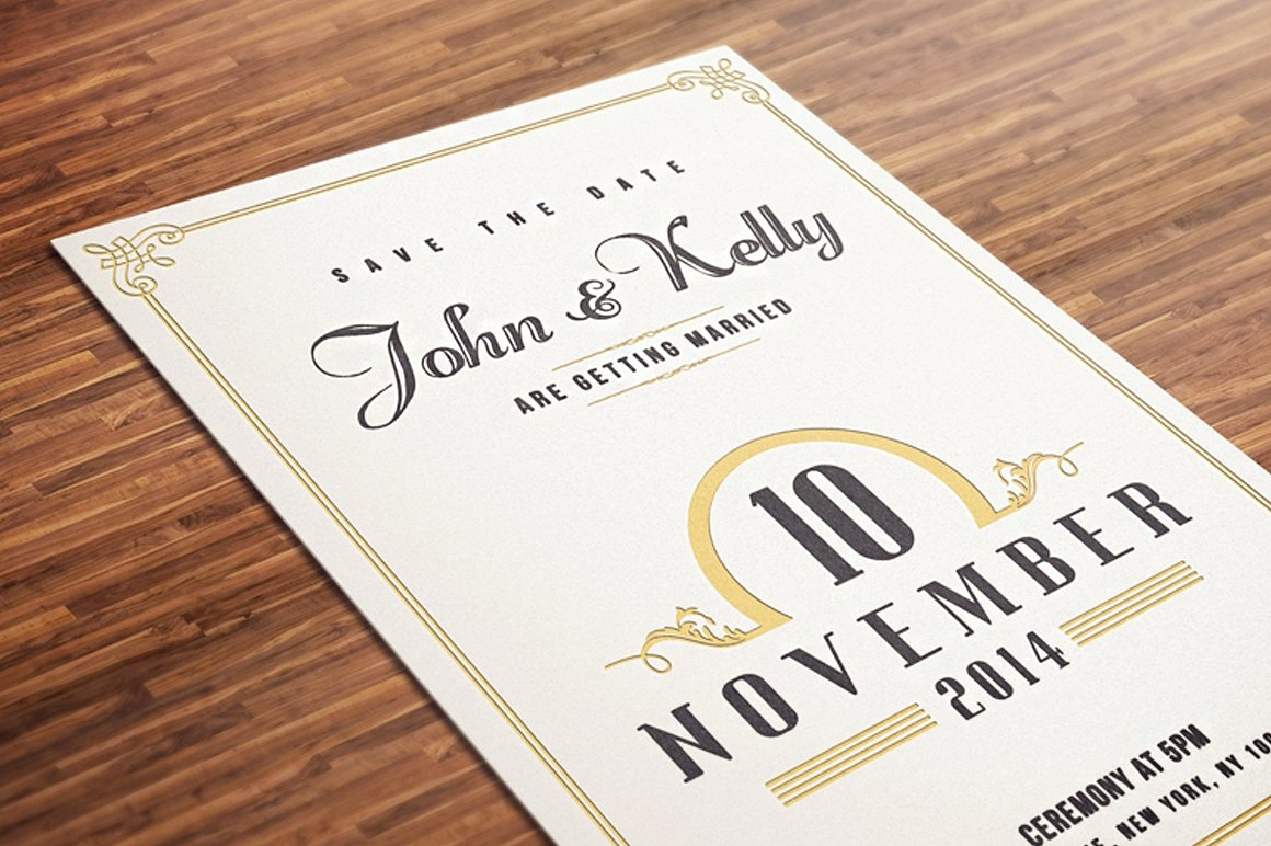 vintage wedding invitation8