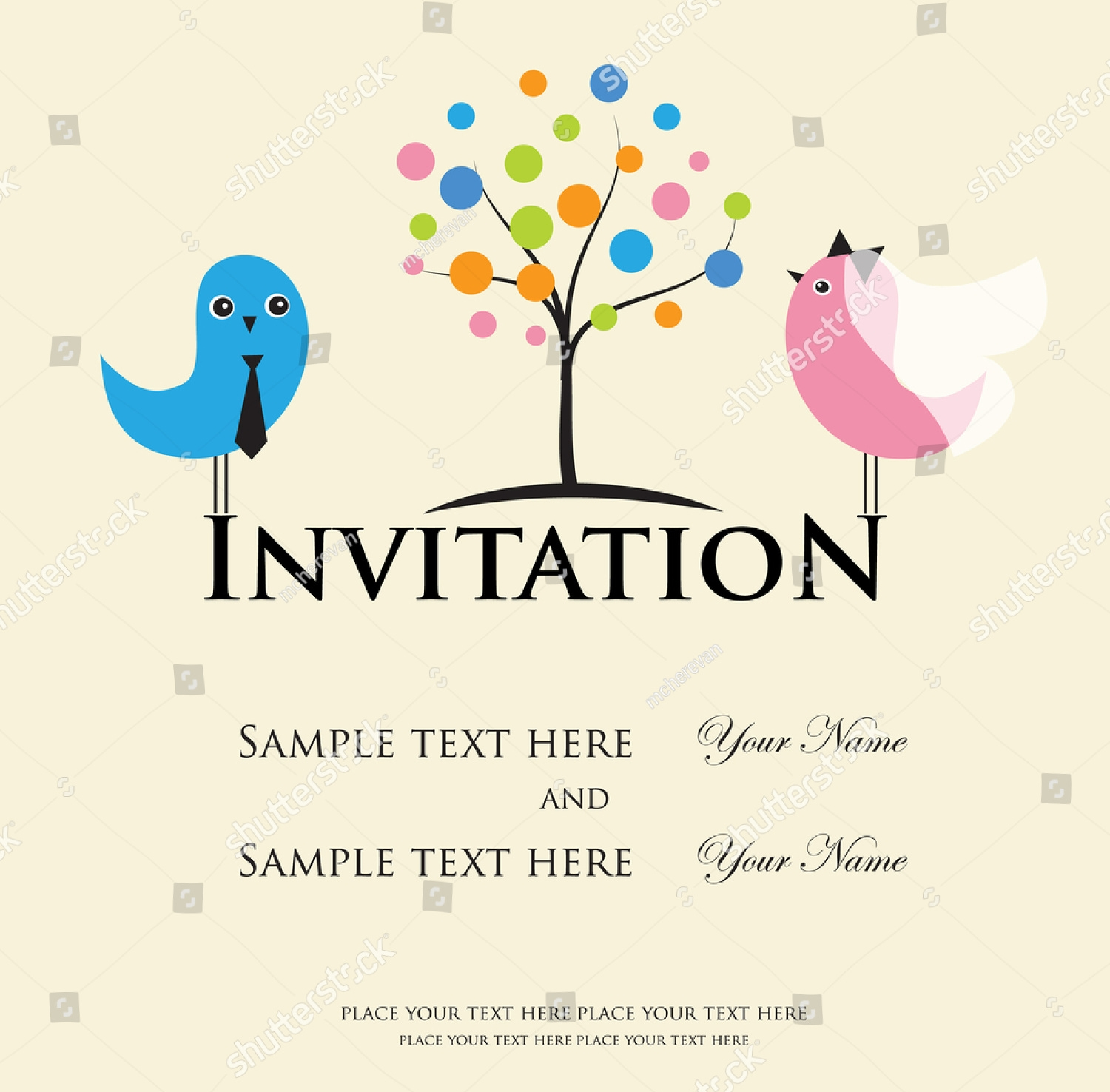 vintage wedding invitation9