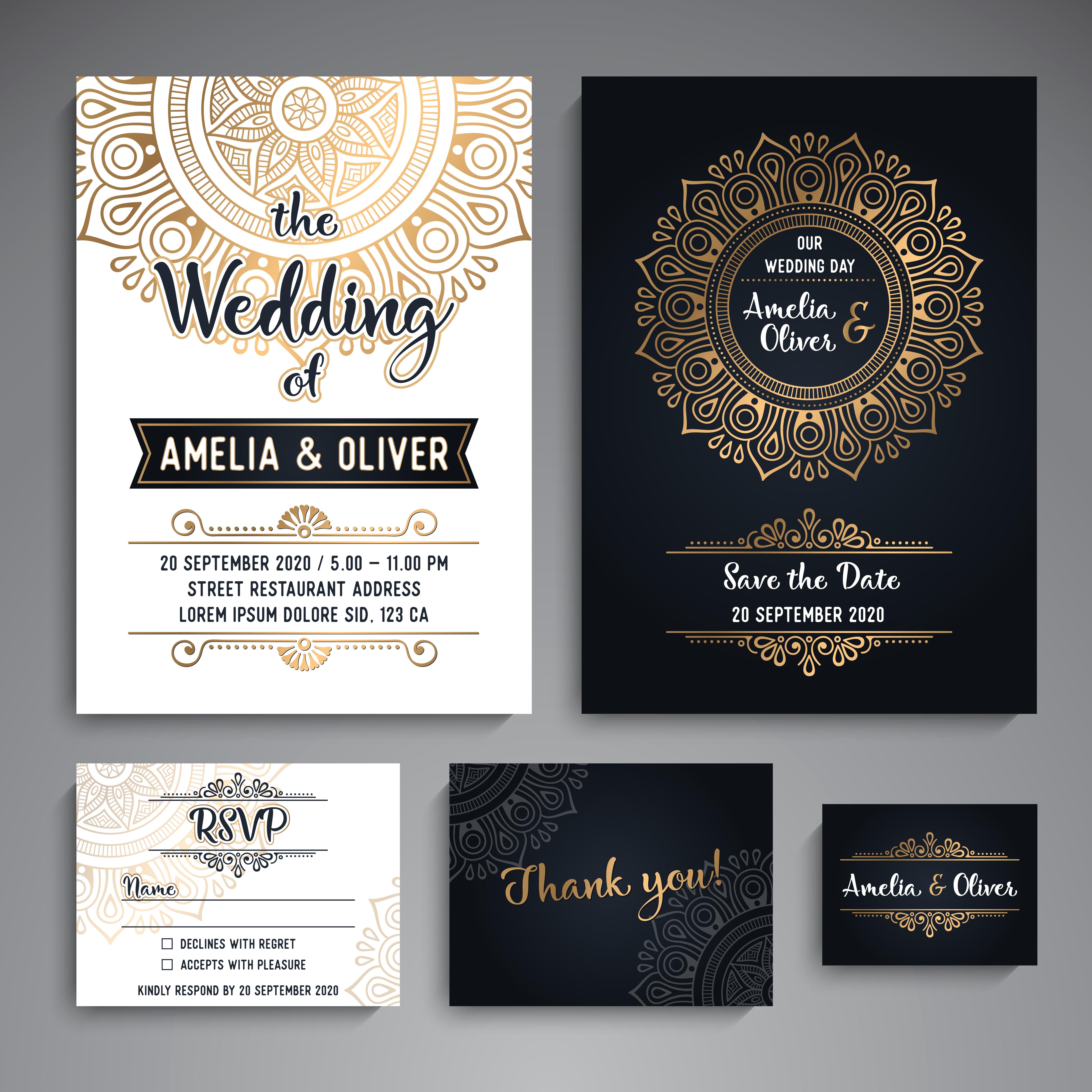 vintage wedding party invitation
