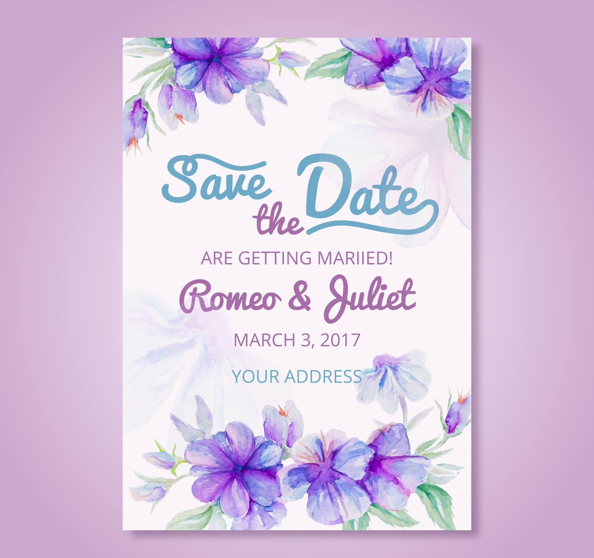 watercolor artistic wedding invitation1