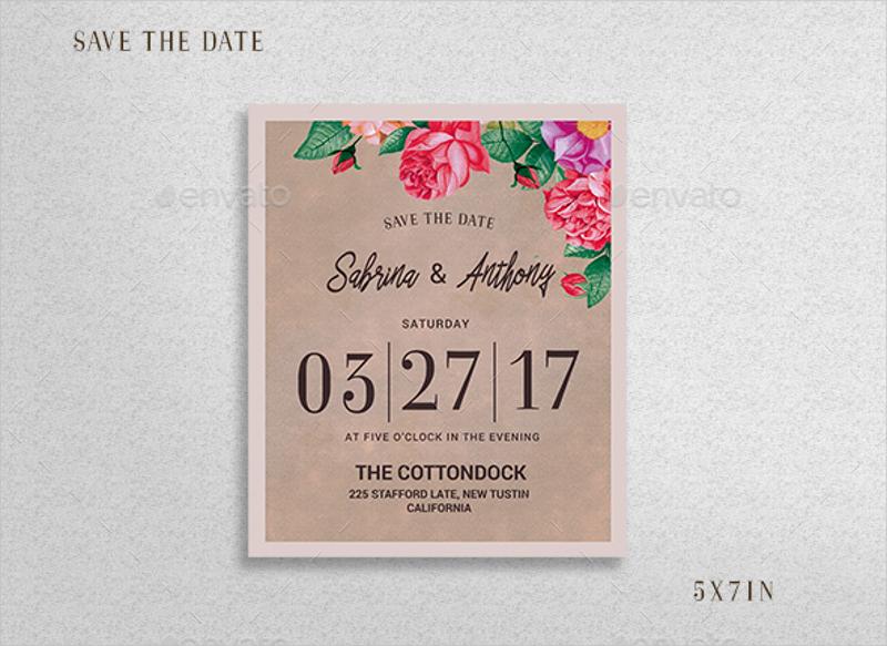 watercolor floral wedding invitation1