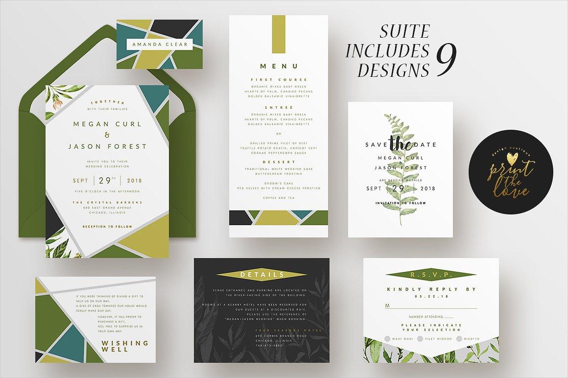 watercolor garden wedding invitation