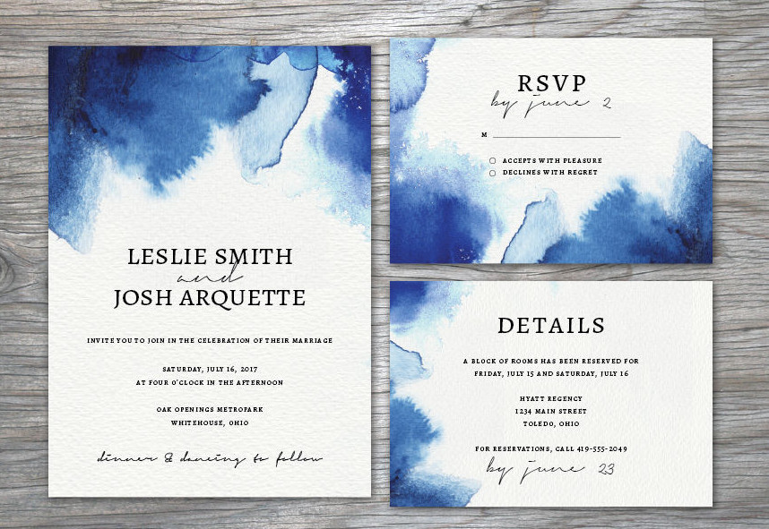 watercolor wedding invitation suite1