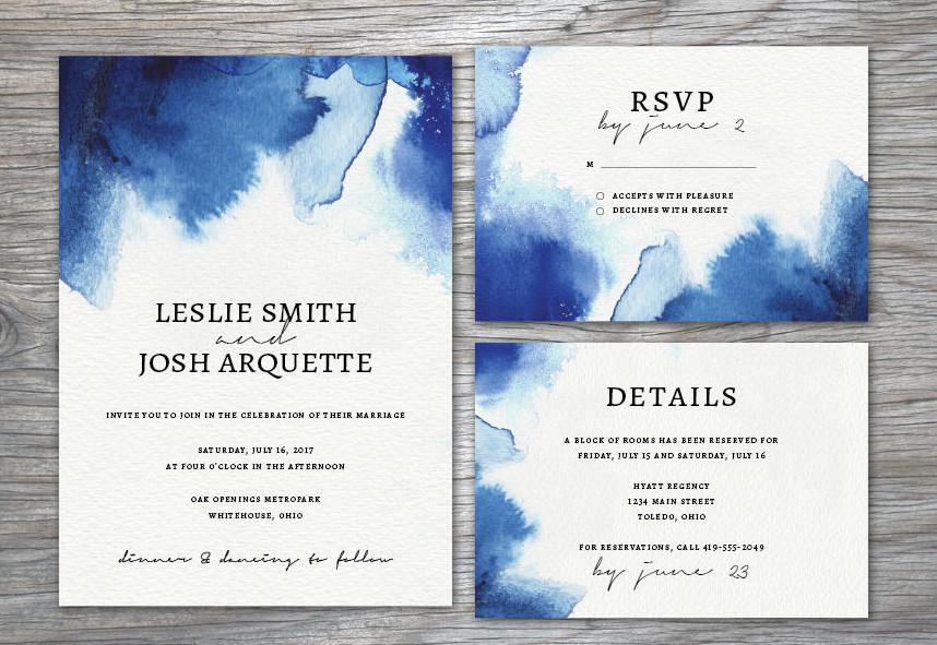 watercolor wedding invitation suite1