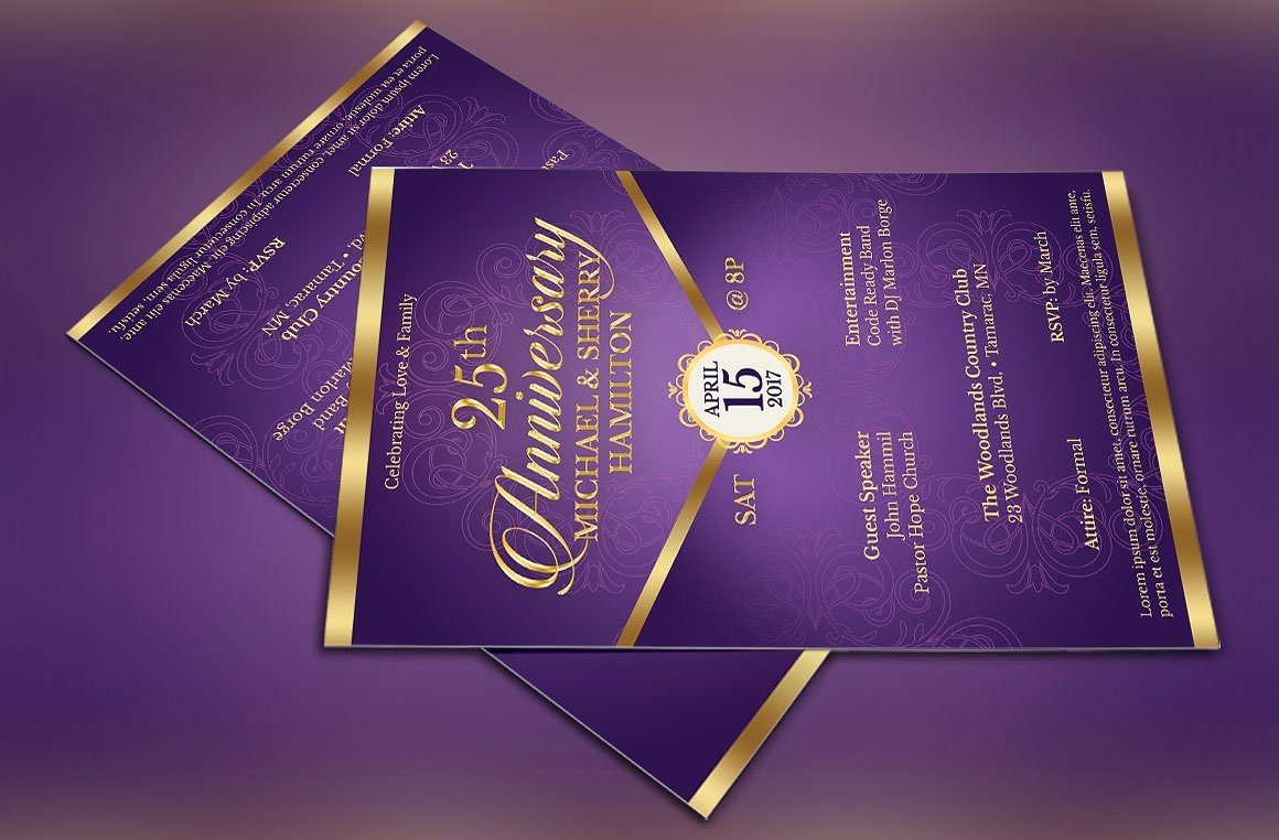 wedding anniversary flyer invitation