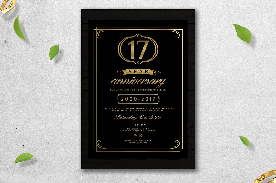wedding anniversary invitation design