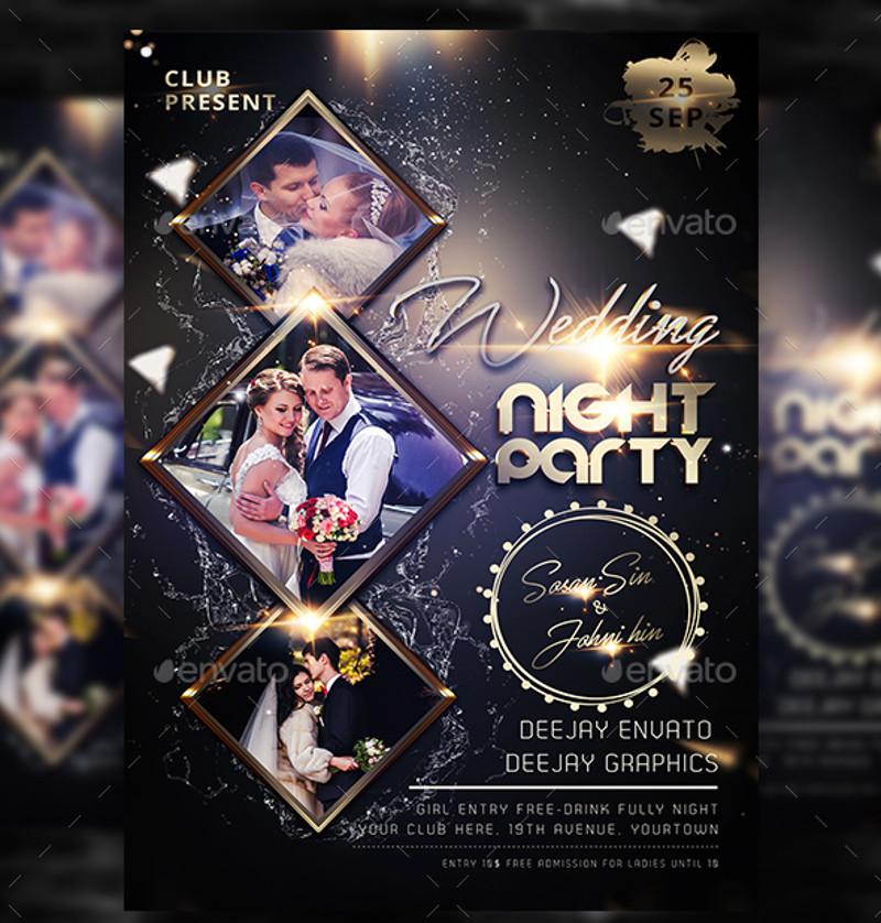 wedding night party invitation