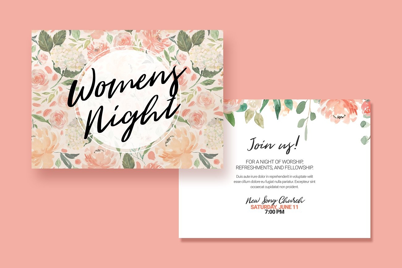 womens event postcard