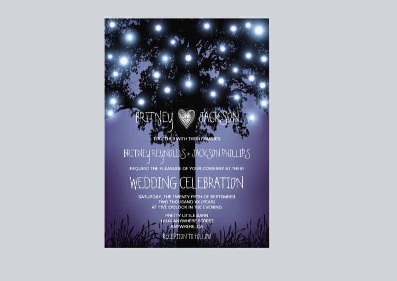woodland rustic wedding invitation