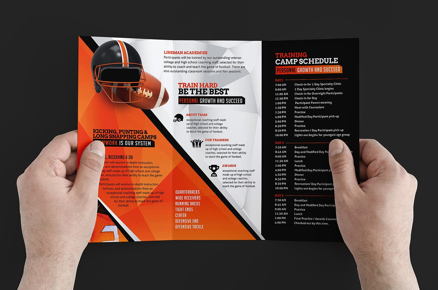 9 training brochure designs editable psd ai format for Training brochure template