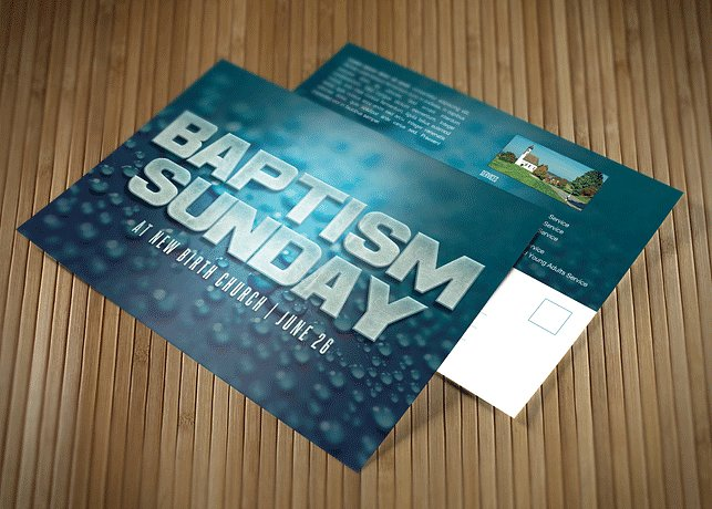 baptism sunday church flyer invite preview 1