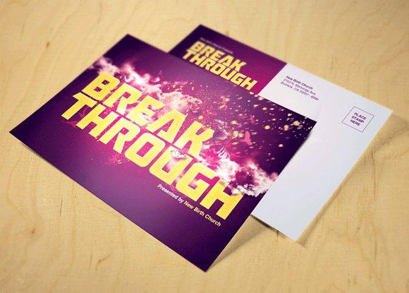 break through church postcard image preview f