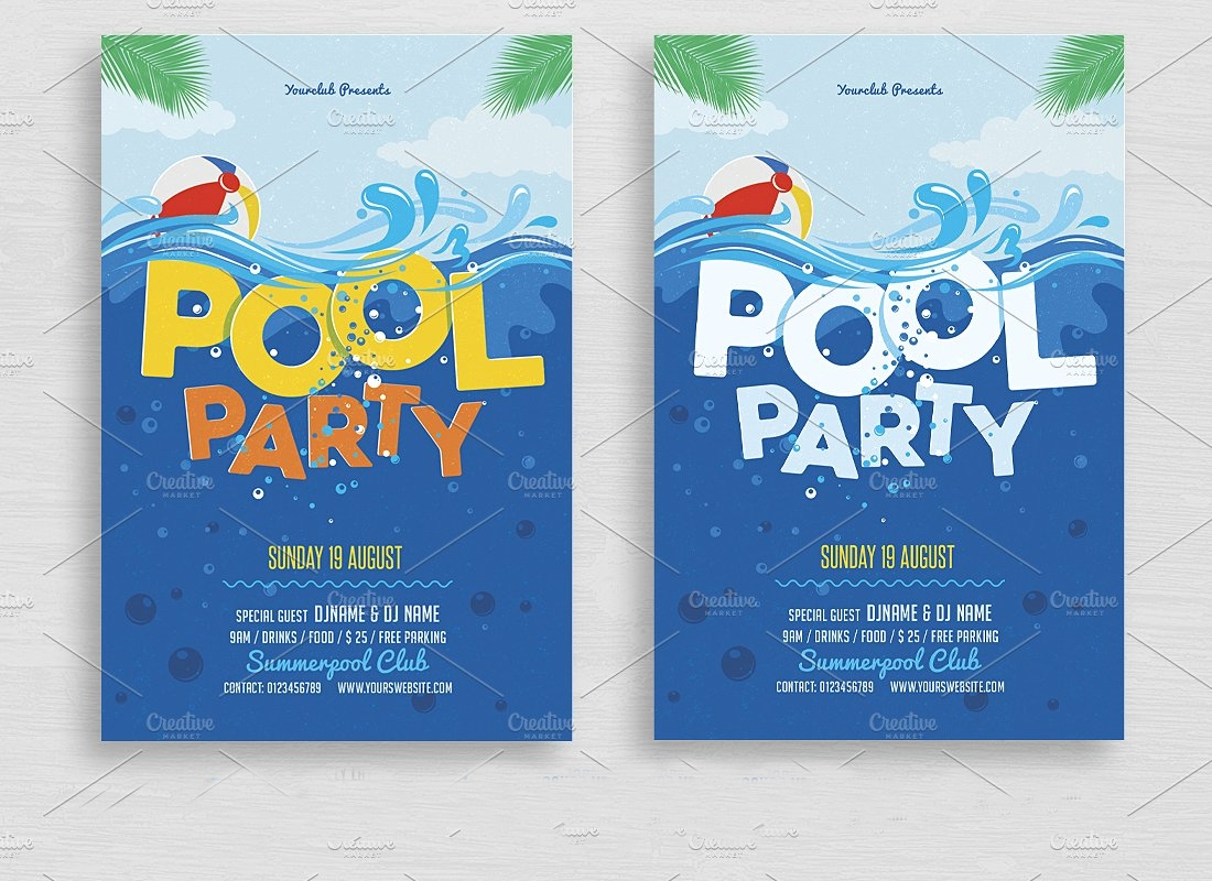 college pool party