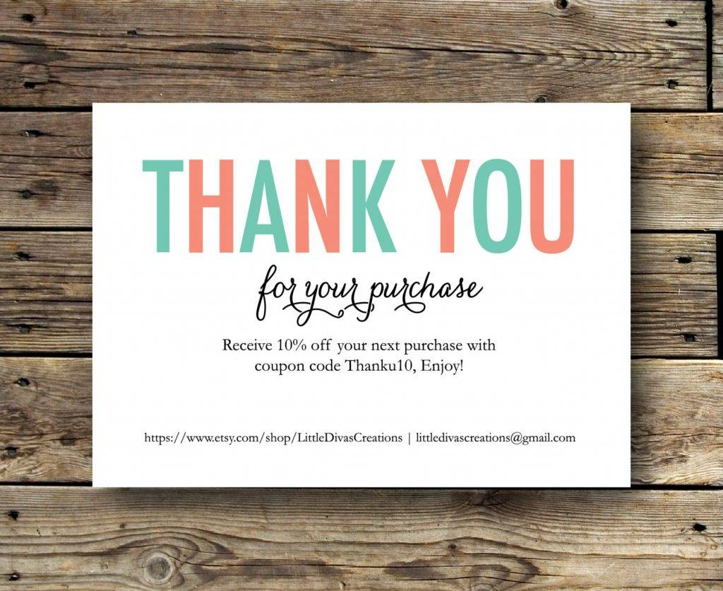 It's just a picture of Comprehensive Free Printable Thank You for Your Purchase