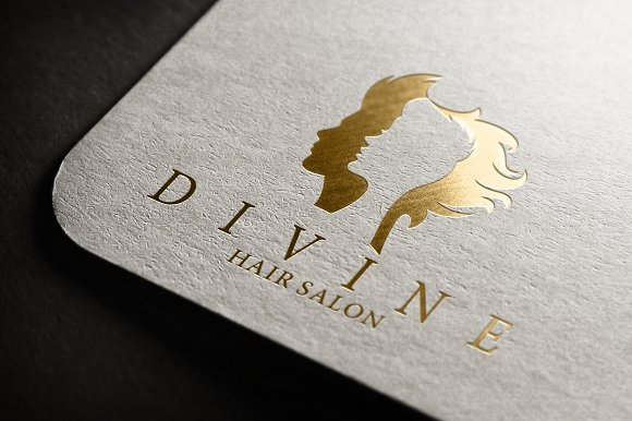 divine hair salon logo preview 05