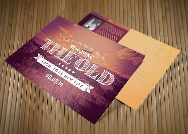 removing the old church postcard template image preview