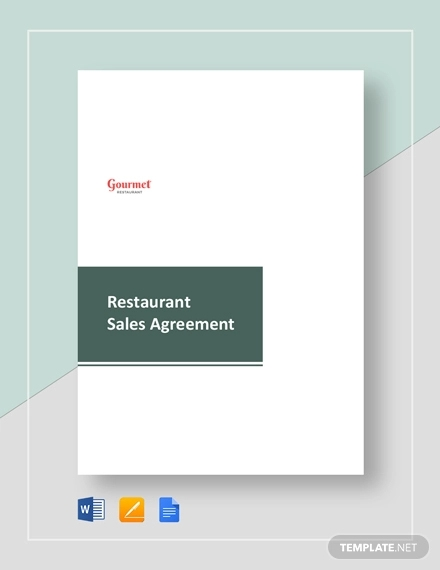 restaurant sales agreement