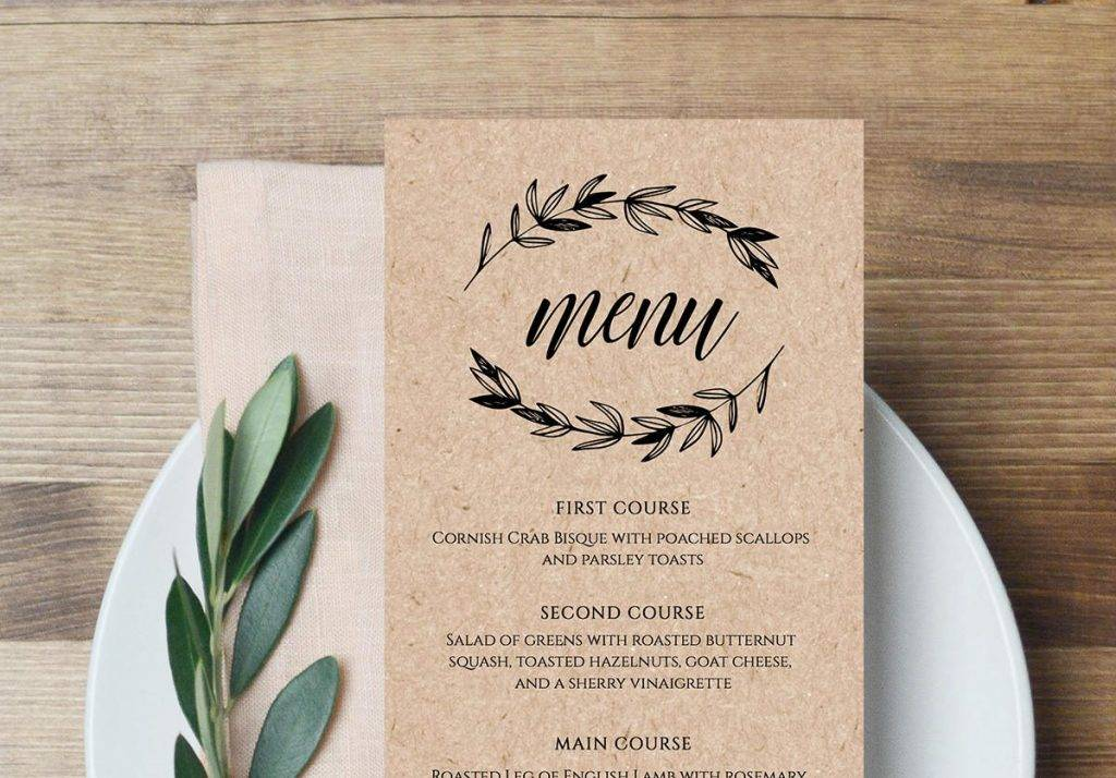 16 Creative Wedding Menu Examples Editable Psd Ai Indesign