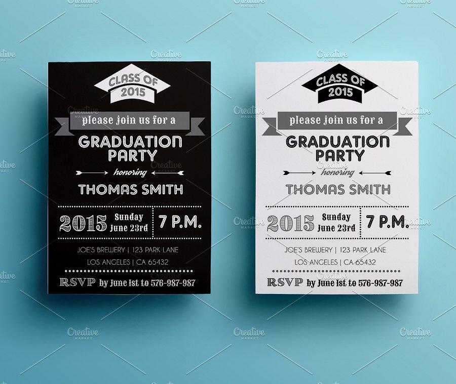 vintage graduation party invitation