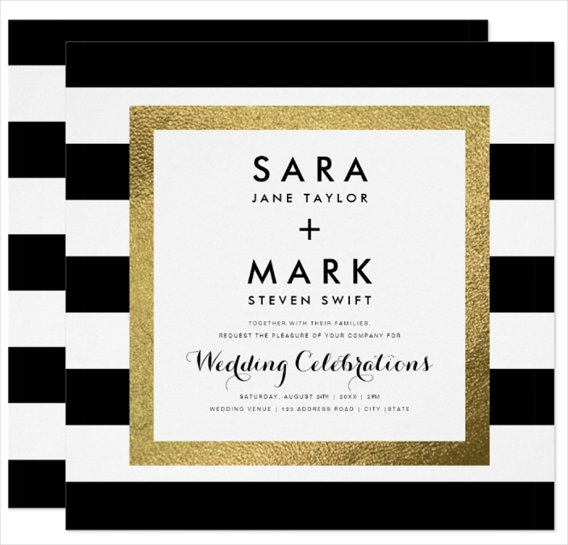 with gold foil wedding card1