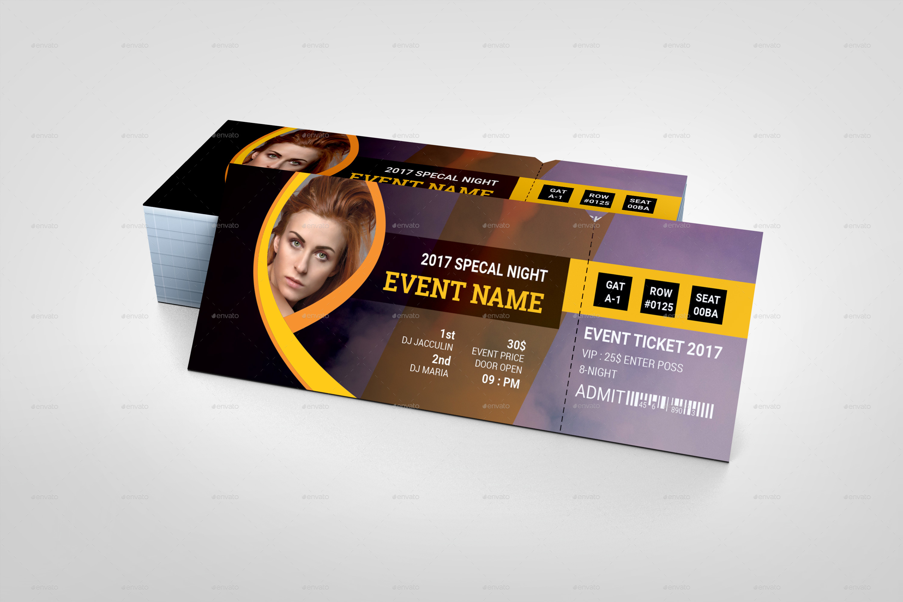 9 event ticket designs examples psd ai vector eps