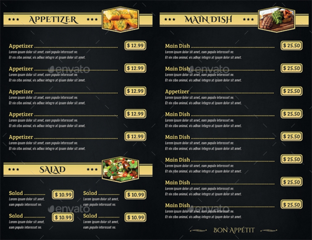 14  menu card designs  u0026 examples