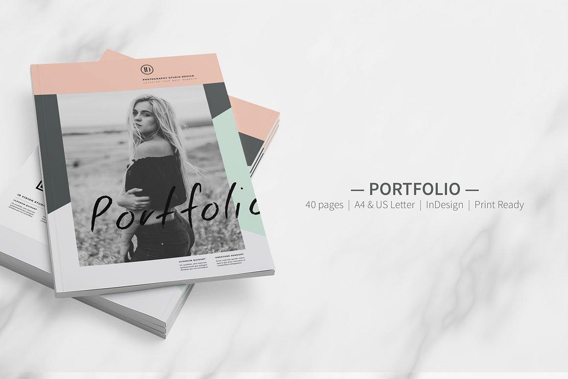 picture regarding Printable Portfolio named Totally free 10+ Minimalist Paper Portfolio Illustrations inside of PSD AI