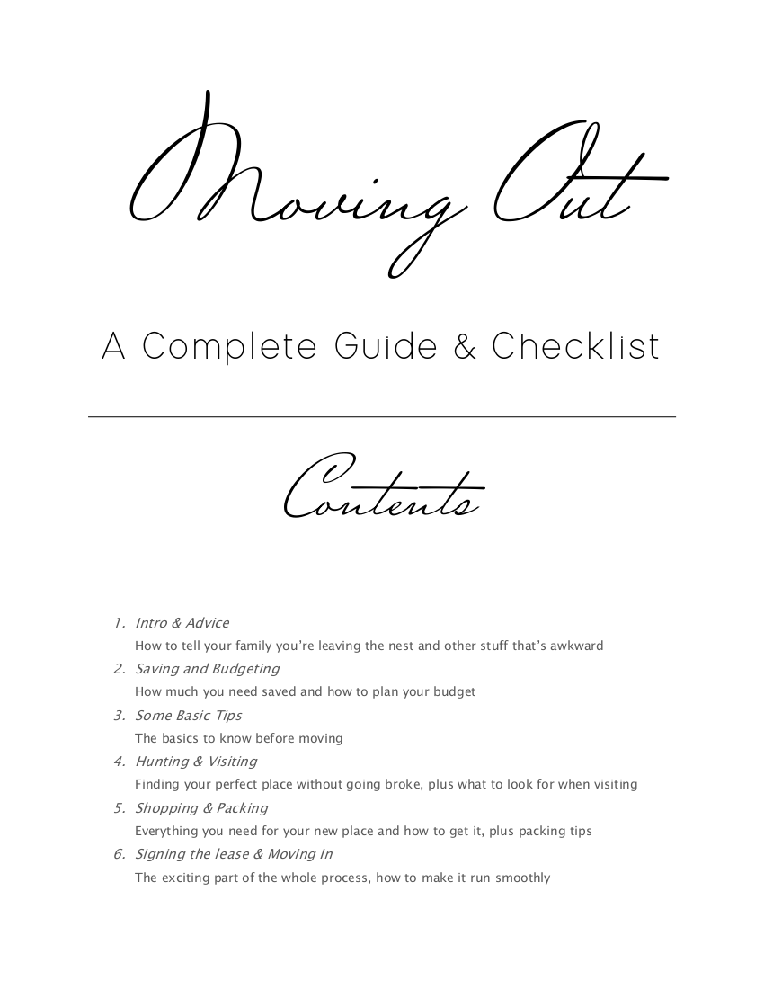 10 moving out a complete guide and checklist