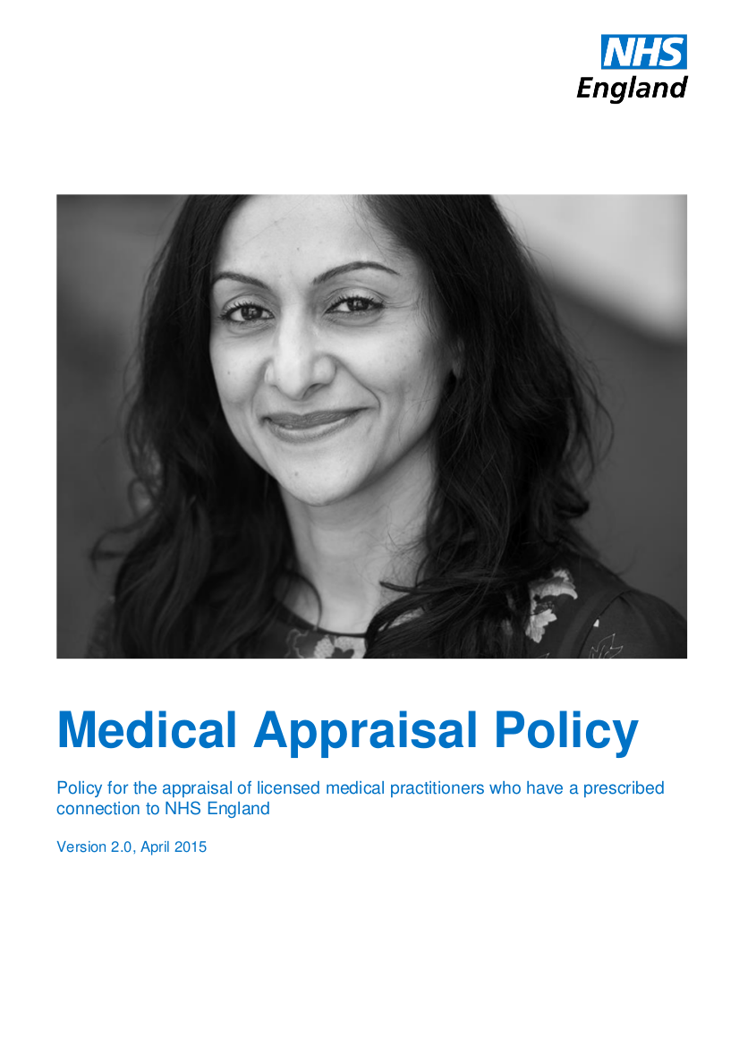 10 medical appraisal policy 0415