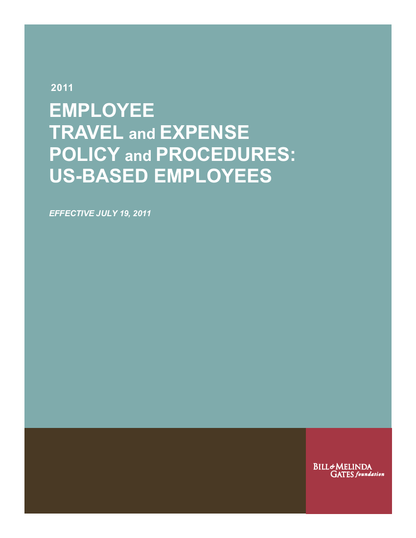 10 staff travel expense policy