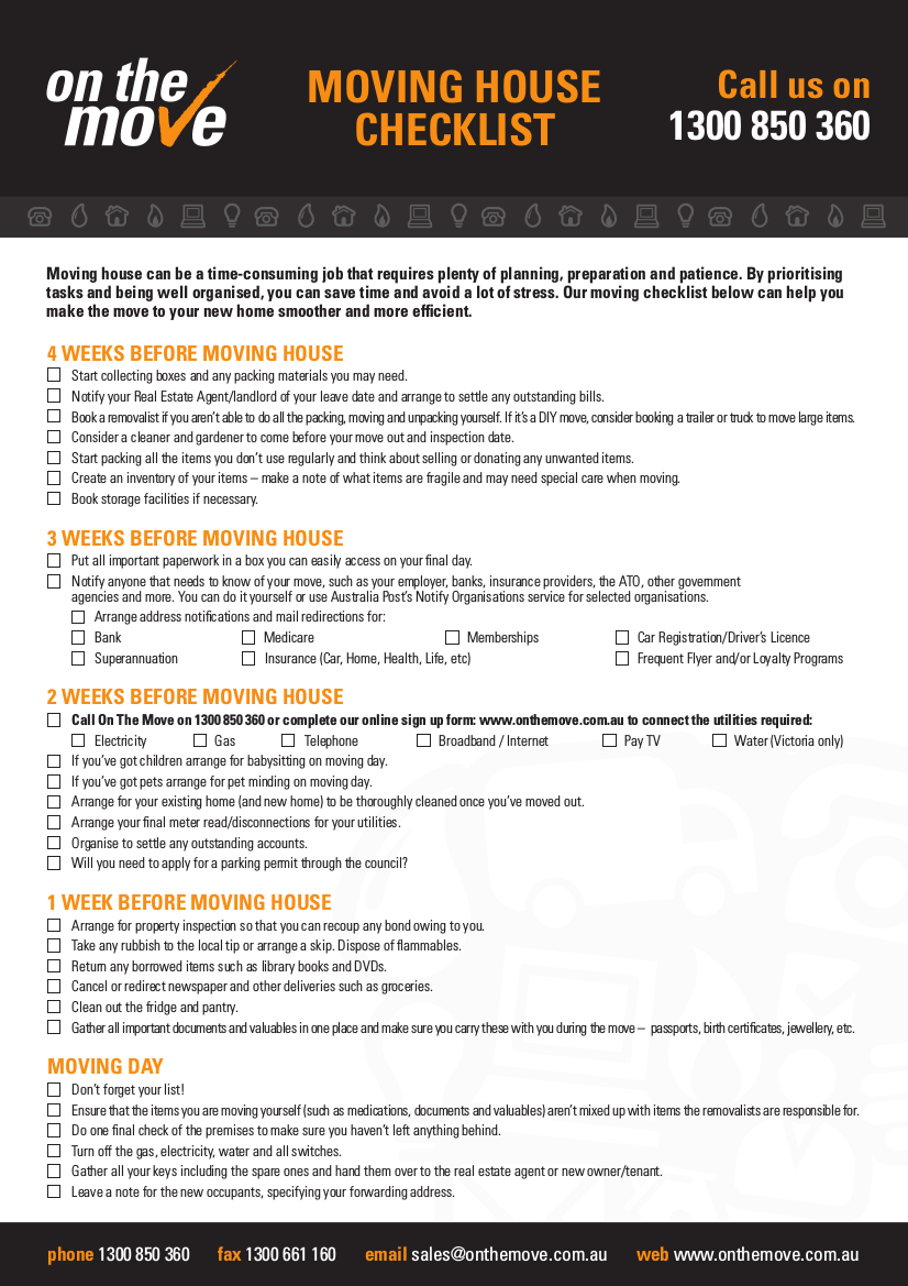 12 Moving Checklist Examples Samples In Pdf