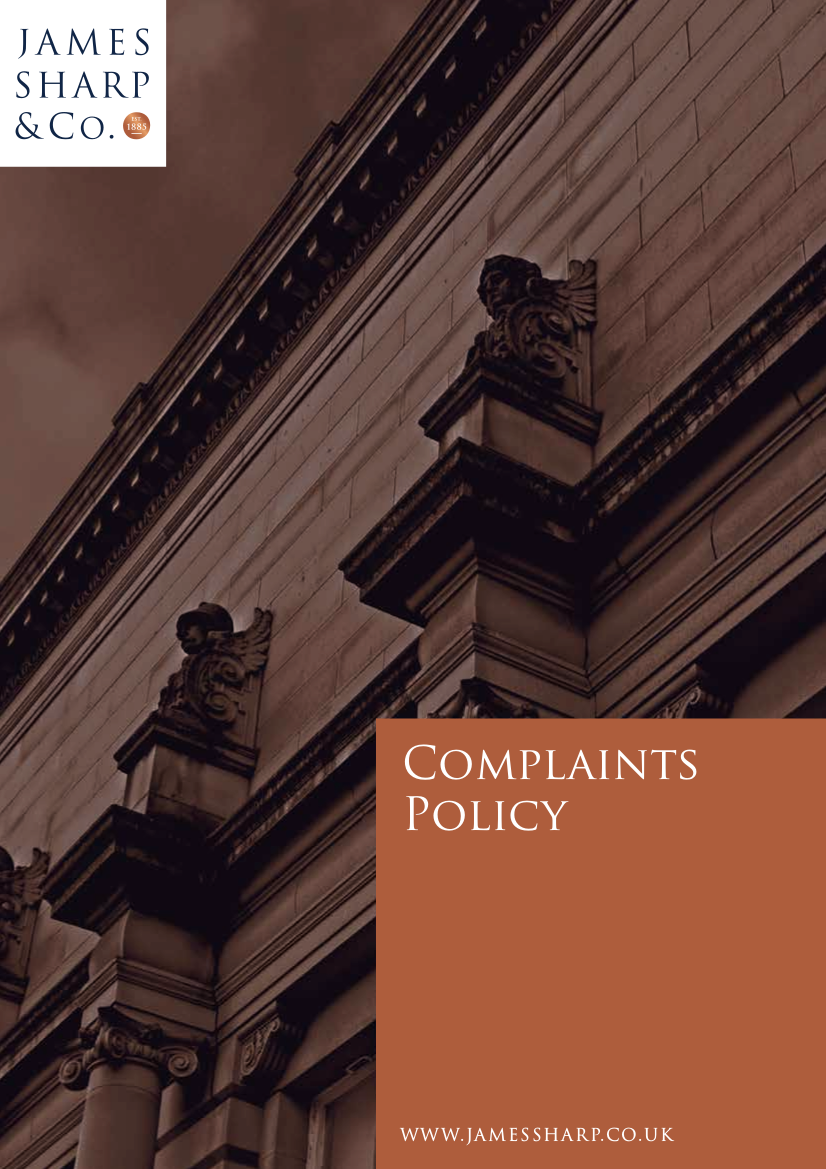 complaints policy example