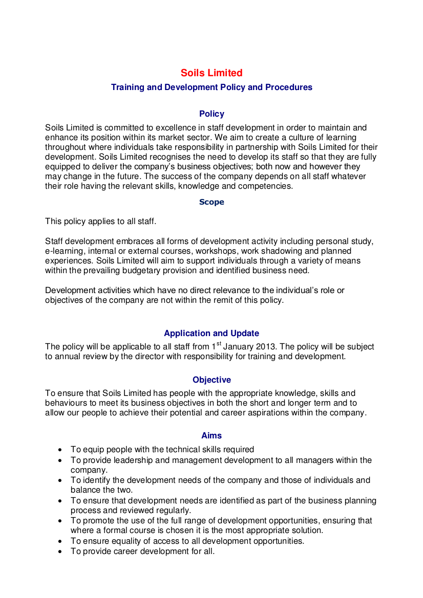 company policy examples