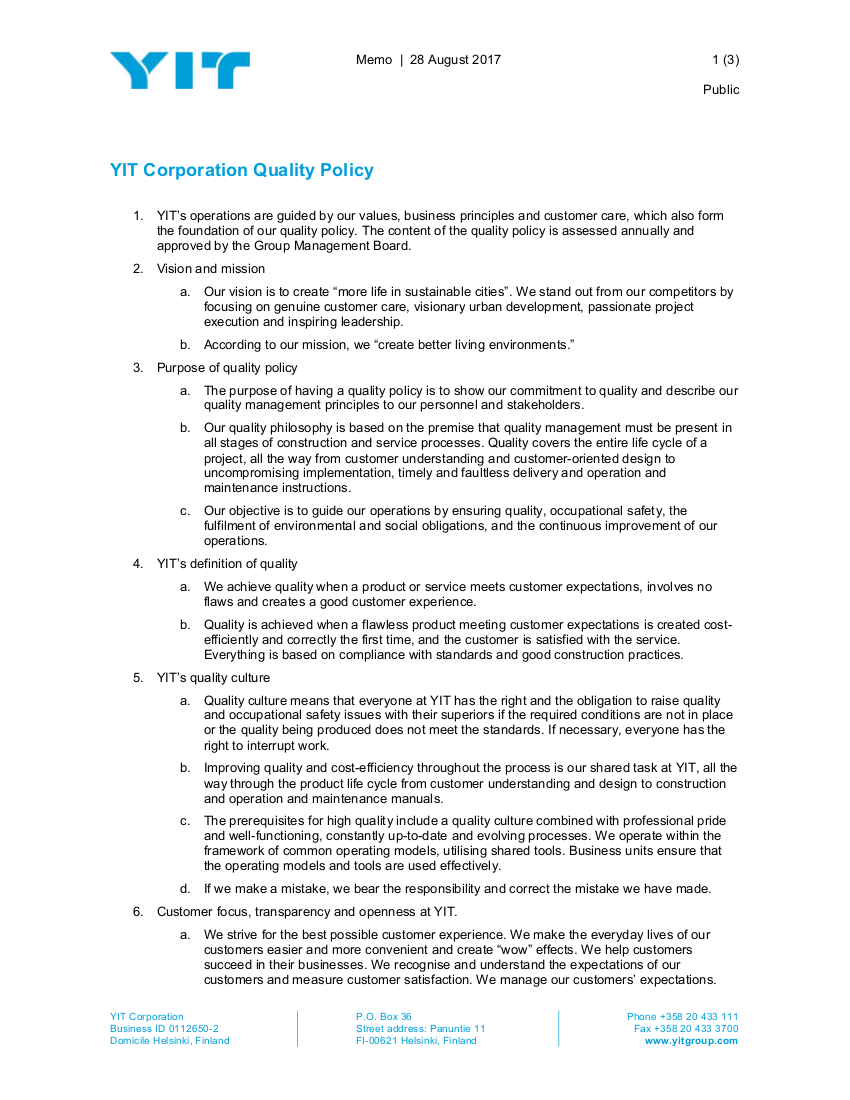 17+ Quality Policy Examples & Samples