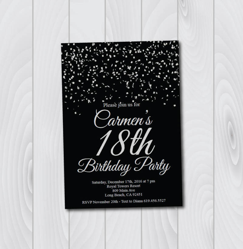 Free 19 18th Birthday Invitation Designs Examples In Word Psd Ai Eps Vector Illustrator Indesign Pages Publisher Examples
