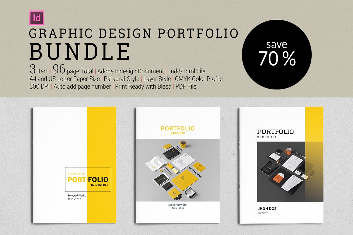 graphic design portfolio bundle - Graphic Design Portfolio Ideas