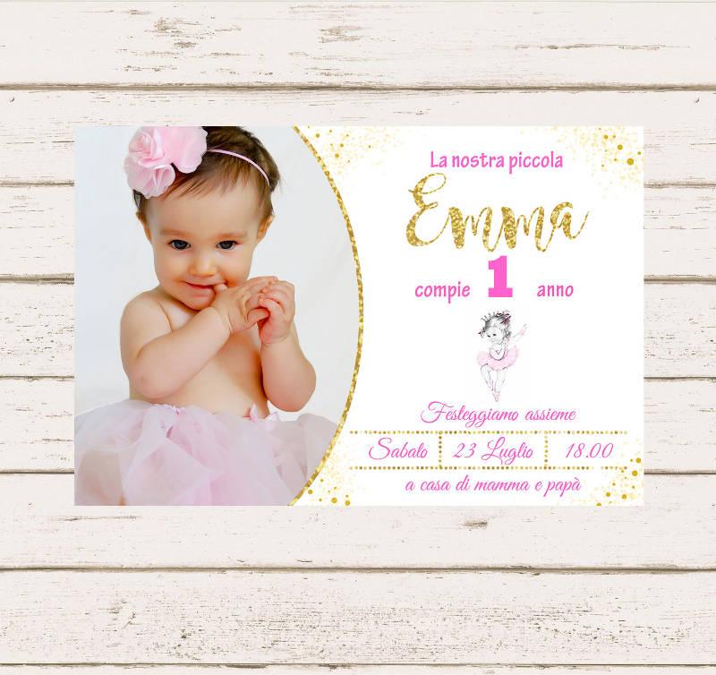 1st personalized birthday invitation card